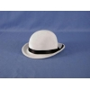 Mini Burlesque Derby Hat - White